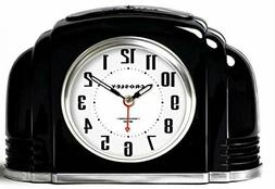 Crosley Vintage Analog Alarm Clock for Mantel and Bedrooms,