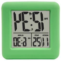 Equity Cube LCD Alarm Clock, Green