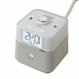 Brandstand BPEBLW CubieBlue White Charging Alarm Clock with