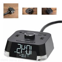 CubieTime Alarm Clock Charger w/ 2 USB Ports and 2 Outlets C