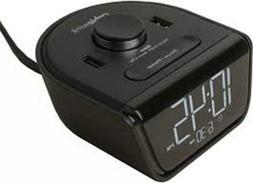 CubieWink Charging Alarm Clock With 2 USB Ports # BPECW Blac