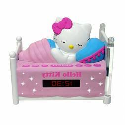 Cute Alarm Clock Sleeping Hello Kitty Am/FM Radio LED Displa