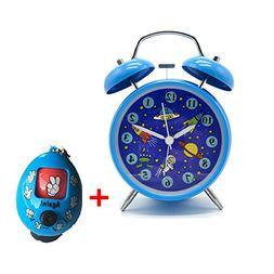 "Yatow Cute Children's Alarm Clock 4"" Twin Bell Wake Up Alarm"