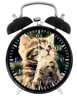 Cute Kitten Cat Alarm Desk Clock Home or Office Decor F77 Ni