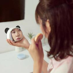 Cute Panda Alarm Clock Digital Mirror Display Clock USB Nigh