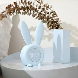 Cute Rabbit Electronic Alarm Clock With LED Night Light Func