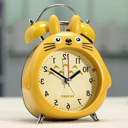Cute Totoro Bell Ringing Alarm Clock Ornaments Mute Digital