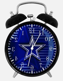 "Dallas Cowboys Alarm Desk Clock 3.75"" Home or Office Decor Z"
