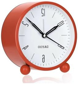 DAYOO Alarm Clock 4 Inch Round Alarm Clock Non Ticking with
