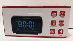 DreamSky Decent Alarm Clock FM Radio USB Port Charging, Temp