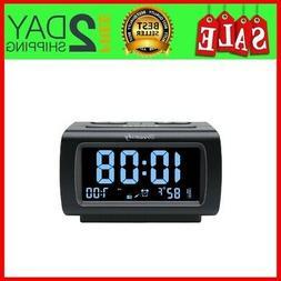 Decent Alarm Clock Radio with FM Radio, USB Port for Chargin