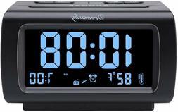 DreamSky Decent Alarm Clock Radio with FM Radio, USB Port fo