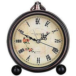 Desk & Shelf Clocks Vintage Silent Alarm Non Ticking Quartz