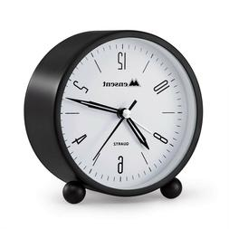 Desk Clock Battery Operated Non Ticking Analog Alarm Bedside
