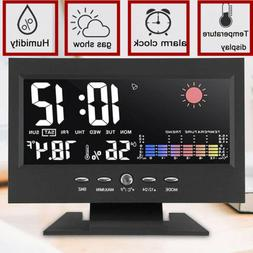 Desk Digital Alarm Clock Weather Thermometer  LED Temperatur
