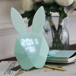 Desk Night Light Snooze Alarm Digital Alarm Clock Kids For B