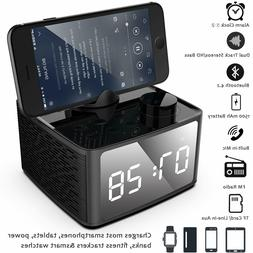 Digit Alarm Clock Radio Wireless Bluetooth Speaker with FM R