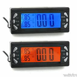 Digita Car Indoor Outdoor Auto LCD Clock Thermometer with Al