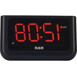 "Digital Alarm Clock 1.4"" Loud LED Display Electric Battery B"