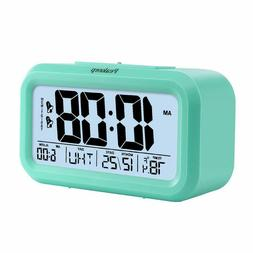 Peakeep Battery Digital Clock with 2,Snooze,Optional Weekday