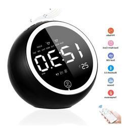 Digital Alarm Clock, Bluetooth Speaker Radio Alarm Clock for