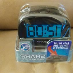Sharp Digital Alarm Clock  Compact Size