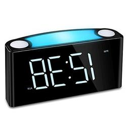 Digital Alarm Clock - Raynic Desk Clock with Loud Alarm, Lar