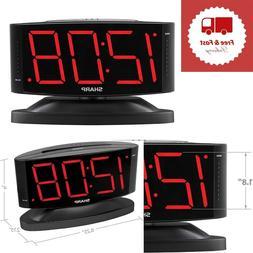 Digital Alarm Clock Easy to Read Large Numbers Swivel Base