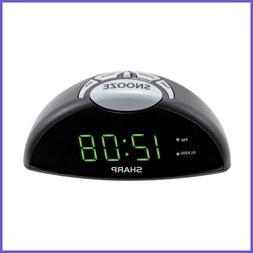 Digital Alarm Clock Easy To See GREEN LED Display – Simple