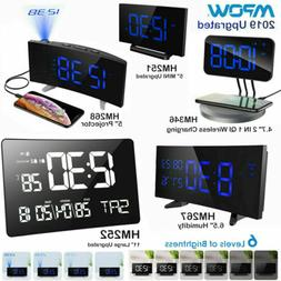 Mpow Digital Alarm Clock FM Radio 12/24 Hour Curved Screen W