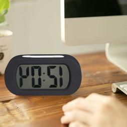 Digital Alarm Clock LCD Display Snooze/ Night Light/ Crescen