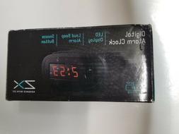 Digital Alarm Clock, LED Display, Loud Beep, Snooze Button A