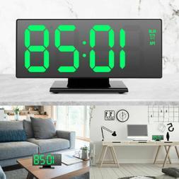 Digital Alarm Clock LED Mirror Clock Multifunction Snooze Di