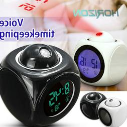 Digital Alarm Clock Multifunction With LED Voice Talking Pro