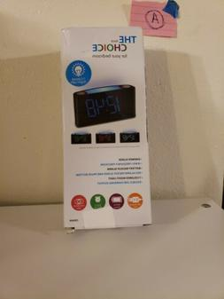 Digital Alarm Clock Projection Bedroom LED Dual Alarms SNOOZ