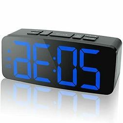 Electric LED Digital Dual Alarm Clock FM Radio Only Large Di