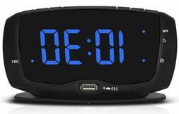 Digital Alarm Clock Radio FM Radio, 1.4 Inches Large Blue LE
