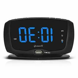 DreamSky Digital Alarm Clock Radio FM Radio,1.4 Inches Large