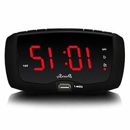 DreamSky Digital Alarm Clock Radio with FM Radio, Dual USB P