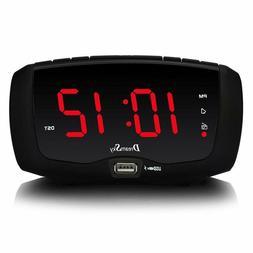 Dream Sky Digital Alarm Clock Radio with FM Radio, Dual USB