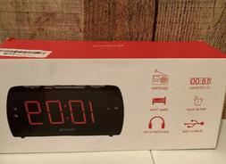 DreamSky Digital Alarm Clock Radio with USB Charging Port, F