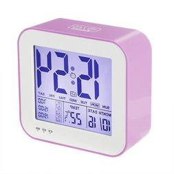Digital Alarm Clock USB Rechargeable Travel Clock Touch Sens