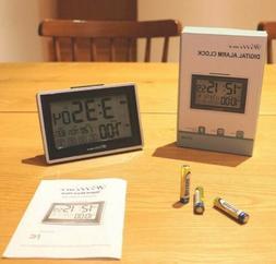 Digital Alarm Clock with Dual Alarm, Temperature and Date Di