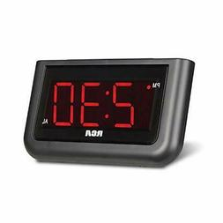 "RCA Digital Alarm Clock - Large 1.4"" LED Display with Bright"