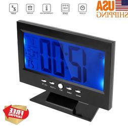 Digital Alarm Clock with LCD Backlight Calendar Temperature