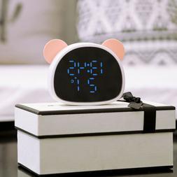 Digital Alarm Clock with Snooze Children Cute Clock-4.92x1.3