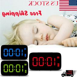 Digital Alarm Clock with Snooze Large LED Display Battery Po