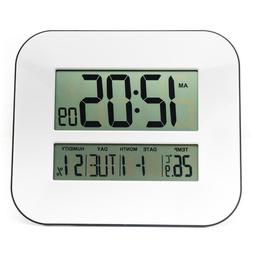 Digital Alarm Clock With Temperature Thermometer Humidity Hy