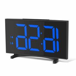 "Yissvic Digital Alarm Clocks For Bedrooms 6.5"" Led Clock Wit"