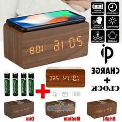 Digital Alarm LED Clock Time Calendar Thermometer Snooze Wir